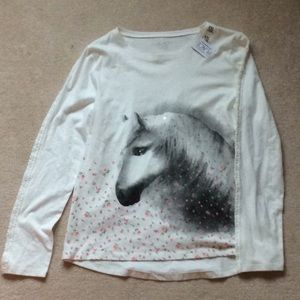 Children's Place Girls Horse Shirt